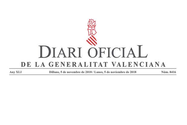 El Diari Oficial de la Generalitat Valenciana publica la convocatoria de becas para el curso 2018/2019
